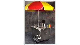 Image of a Hot dog cart.