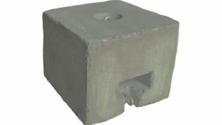 Picture of a 250 Pound weights with white covers