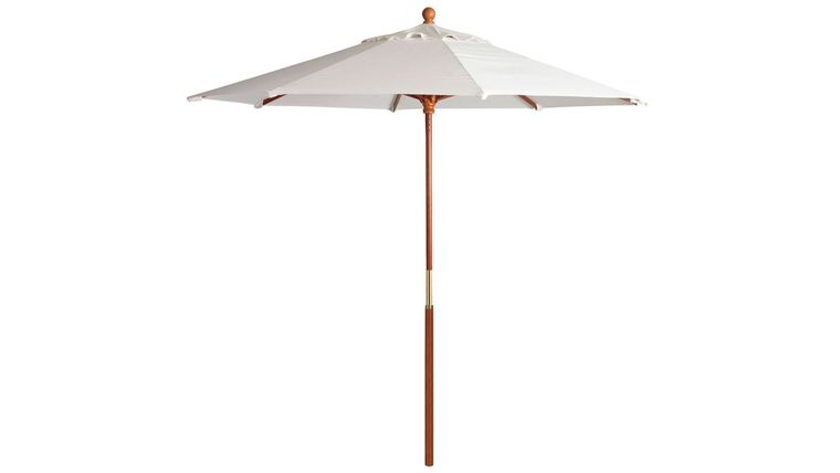 Picture of a 9 ft Market umbrella  white with base