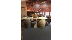 Image of a Wine Barrel Bar or greeting table