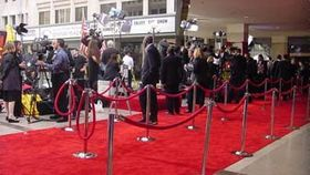 Image of a 4 x 10 Red carpet.