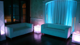 Image of a Illuminated 2 x 2 end table.