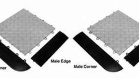 Image of a Snap lock male corner.