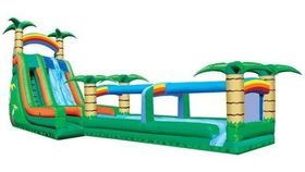 Image of a Tropical slide with slip & splash.