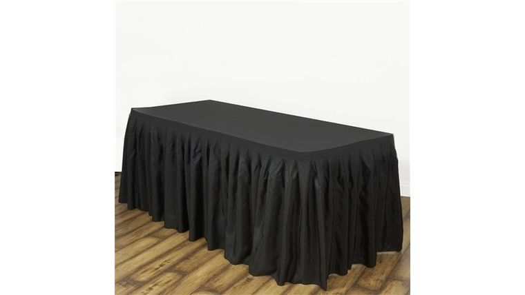 Picture of a 14' Black Table skirts