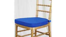 Image of a Royal Blue Chair  cushion cover.