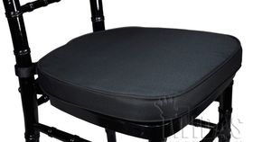 Image of a Black Chair cushion cover.