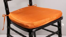 Image of a Orange Chair Cushion Cover.