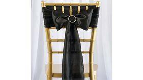 Image of a Black chair sash