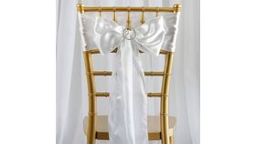 Image of a White chairs sash.