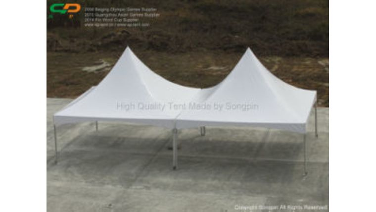 Picture of a 10  High peak tent gutter.