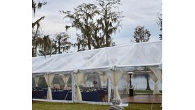 Image of a 8 x 10 sailcloth clear sidewall