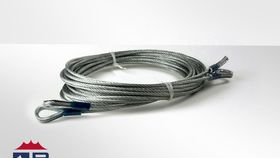 Image of a Black 10 x 10 high peak cross cable.