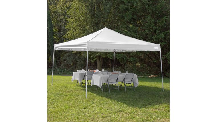 Picture of a 10 x 10 Pop up tent white.