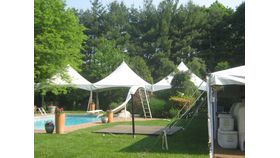 Image of a 15 X 15 High peak tent white.