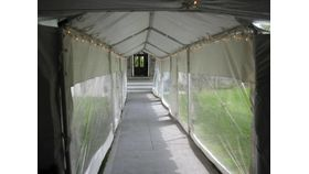 Image of a 15 x 30 White frame tent package deal