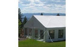 Image of a 30 Jumbo trac gable ends white
