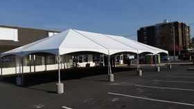 Image of a 20 x 10 Jumbo trac lite mid & gable ends white