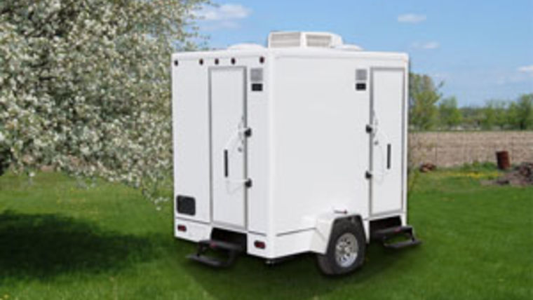Picture of a 8 ft bathroom trailer