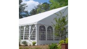 Image of a 50 wide gable ends white