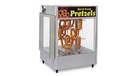 Image of a Pretzel warmer with pretzels.