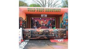 Image of a Wild west shoot out inflatable.