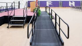 Image of a Handicap ramp with railings 4 feet