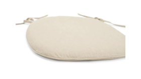 Image of a Canvas Tie-Back Cushion