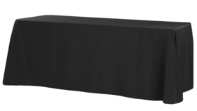 "Image of a Black, Tablecloth - 90""x132"" Banquet"