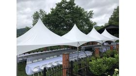 Image of a White, High-Peak Tent - 20'x80'