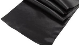 Image of a Black Satin Table Runner