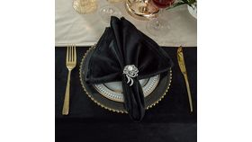 Image of a Black Velvet Napkin