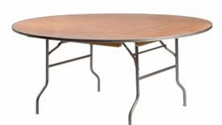 "Picture of a 72"" Round Table"