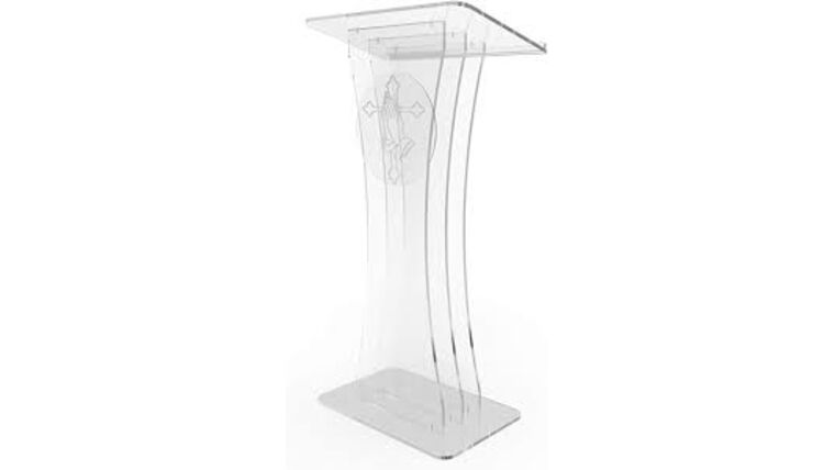 Picture of a Clear Acrylic Podium