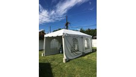 Image of a 10 x 20 White Standard Frame Tent