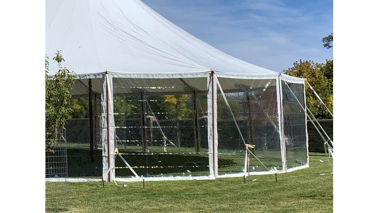 Picture of a 10 x 10 Clear Sidewalls