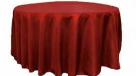 "Image of a 120"" Apple Red Round Standard Tablecloths"