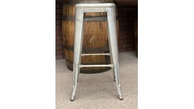 Image of a Bar Stool Silver Tolix bistro style bar stools