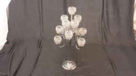 Image of a 12 arm Crystal Votive Candleabra