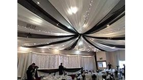 Image of a Ceiling Draping Twinkle Lights