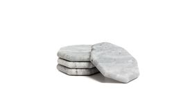 Image of a Gray Marble Hexagonal Coasters