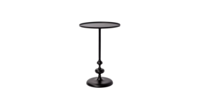 Image of a BLACK METAL ACCENT TABLE