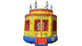 Image of a Birthday Cake Bounce House
