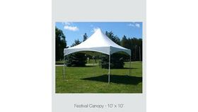 Image of a 10' W 10' L Festval Canopy