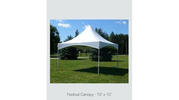 Picture of a 10' x 10'  Festival Canopy