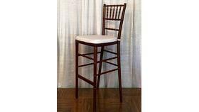 Image of a Chair Chiavari Fruitwood Barstool w/o Cushion