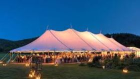 Image of a 44' x 123' Tidewater Sailcloth Tent