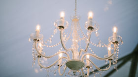 Image of a Large White Chandelier