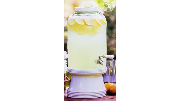 Picture of a Glass Beverage Dispenser 3 gal