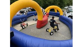 Image of a Inflatable Race Track - Jumbo Trikes Set of 3